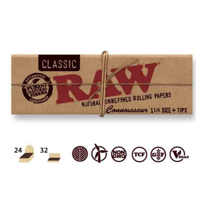 Raw Classic Unbleached 1 1/4