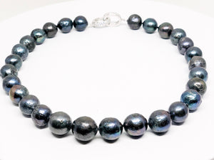 Large Blue Freshwater Pearl Necklace