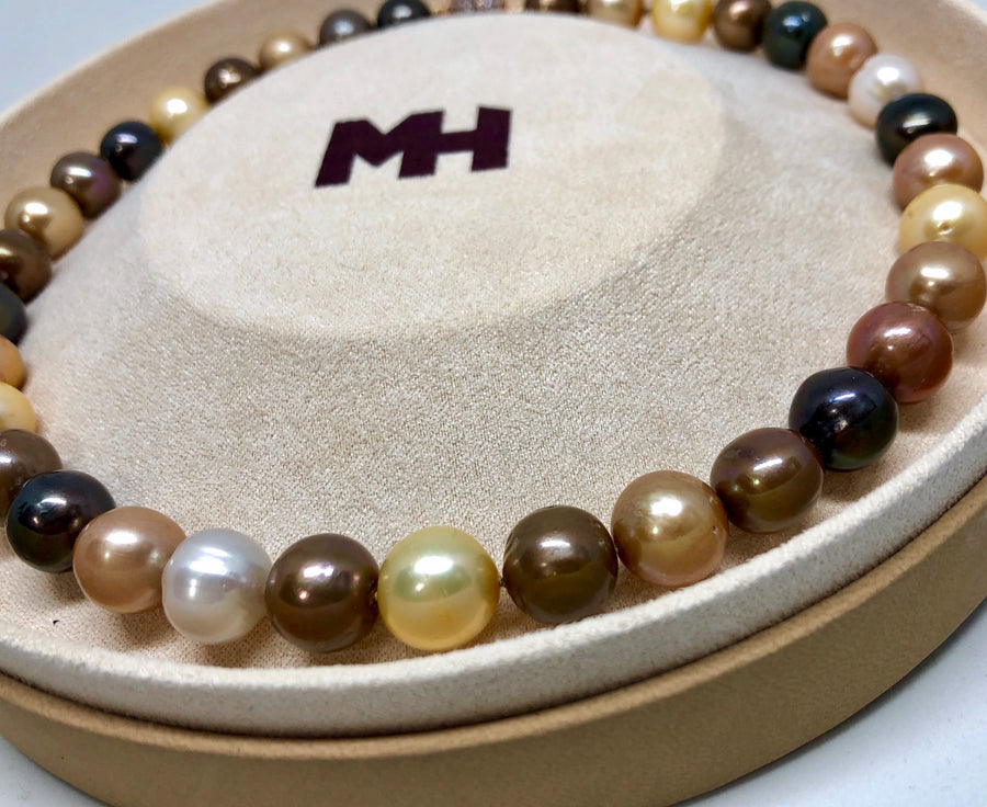 Fall Multi-color Large Freshwater Pearl Necklace