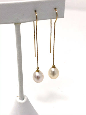 Pink Freshwater 14K Dangle Earrings