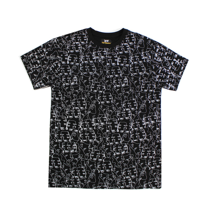 WE Faces Tee - Black - mistermnm1