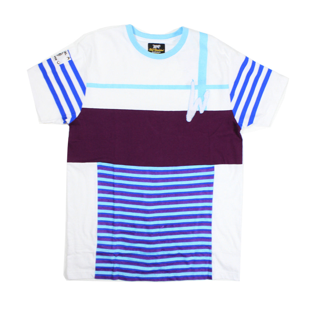 WE STRIPE Straight  Established Tee - White - mistermnm1