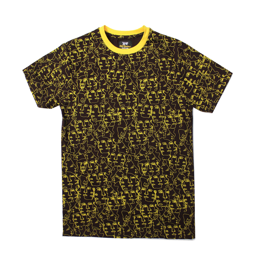 WE Faces Tee - Brown - mistermnm1