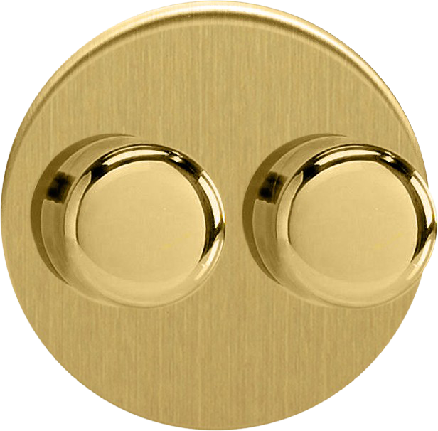 Double Dimmer (Non-LED) - Brushed Brass