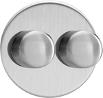 Double Dimmer (Non-LED) - Brushed Steel