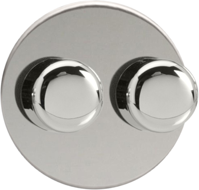 Double Dimmer (Non-LED) - Chrome