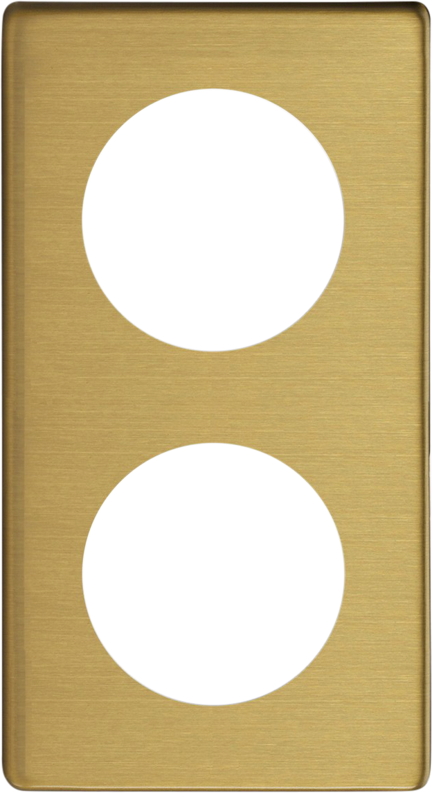 Double Frame - Brushed Brass