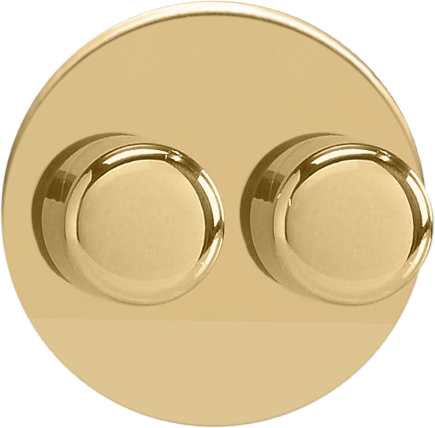 Double Dimmer (Non-LED) - Polished Brass
