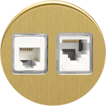 Double Ethernet - Brushed Brass