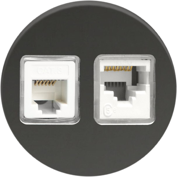 Double Ethernet - Mirror Black