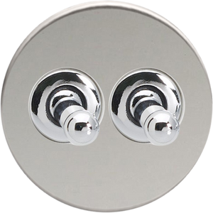 Double Toggle Switch - Chrome