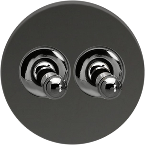 Double Toggle Switch - Mirror Black