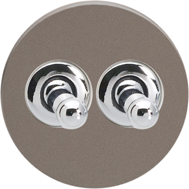 Double Toggle Switch - Pewter