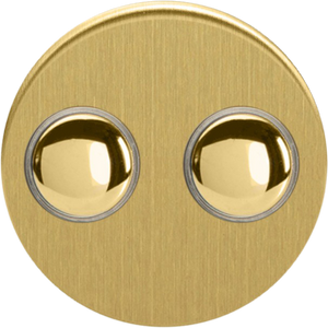 Double Touch Button - Brushed Brass