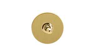 Toggle Switch - Brushed Brass