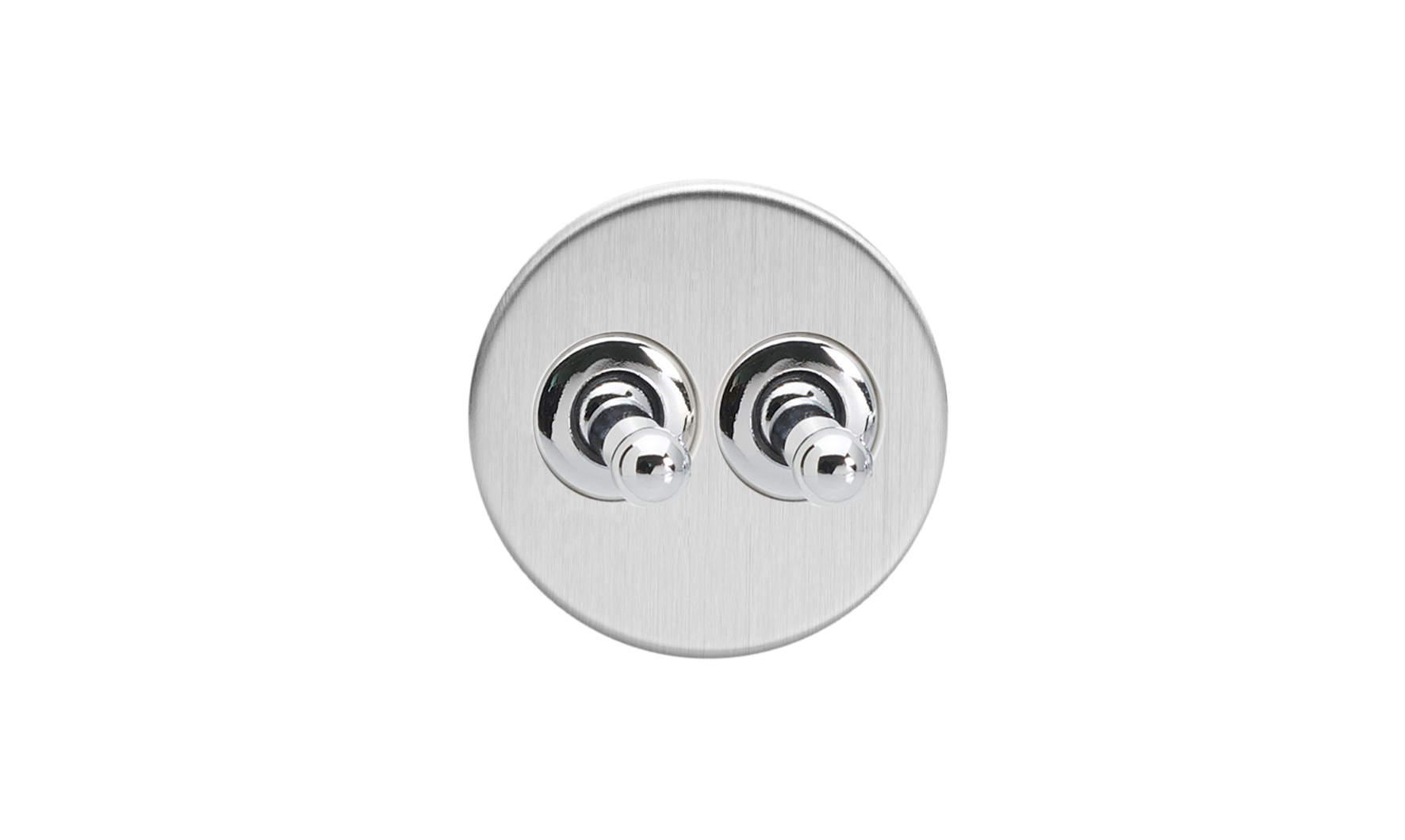 Double Toggle Switch - Brushed Steel