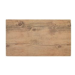 Fortessa Melamine Wood Rectangle Tray 18 x 10