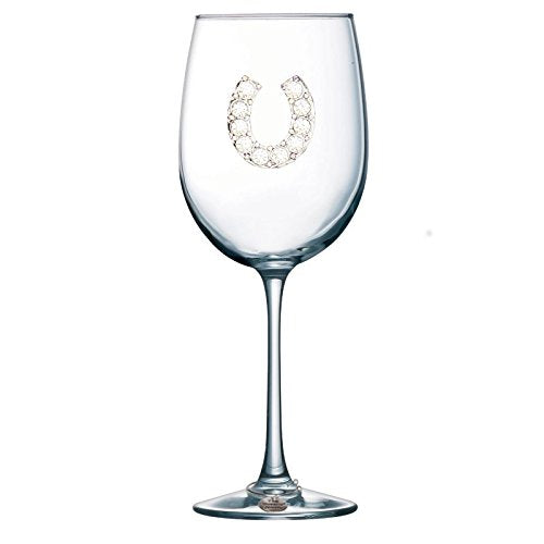 Corkpops 0500-002-100 Horseshoe Jeweled Wine Glass Stemmed