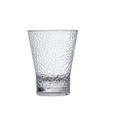 D&V Hammered Juice Old Fashioned Glass, 15 Oz, Set Of 6