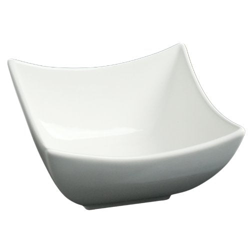 "Fortessa Fortaluxe SuperWhite Vitrified China Dinnerware, 5"" Square Flair Serving Bowl, Set of 6"