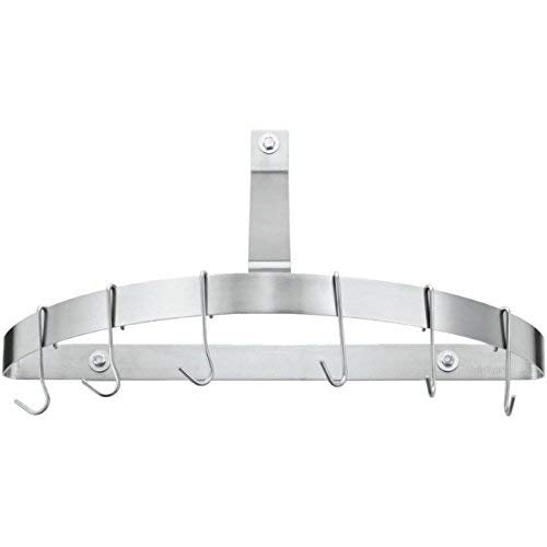Cuisinart CRHC-22B Chef's Classic Half-Circle Wall-Mount Pot Rack, Brushed Stainless