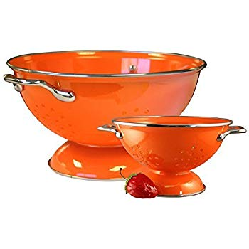 Calypso Basics Colander Set, 1qt and 3qt, Orange