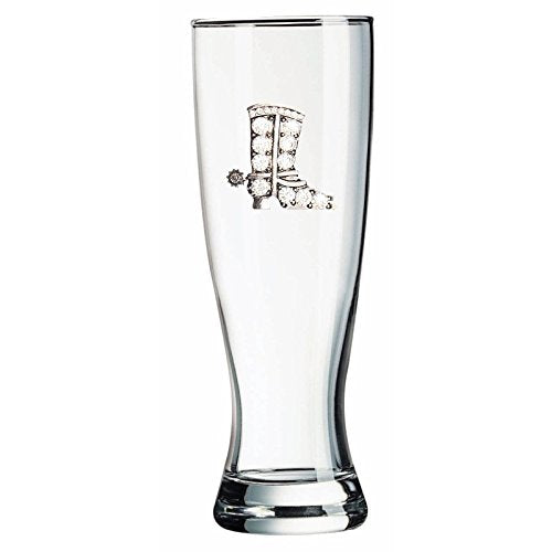 Corkpops 0500-001-300 Cowboy Boot Jeweled Pilsner Glass