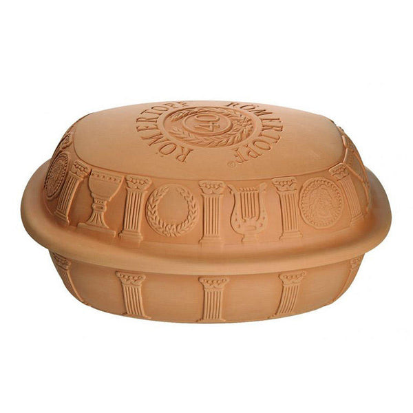 Romertopf 40th Anniversary Series Natural Glazed Clay Baker, Large