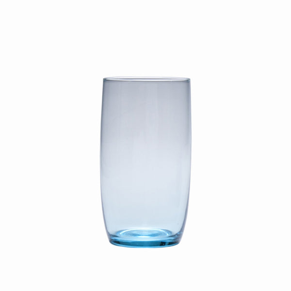 D&V Glass Gala Collection Iced Beverage/Cocktail Glass 19 Ounce, Aquamarine Blue, Set of 12