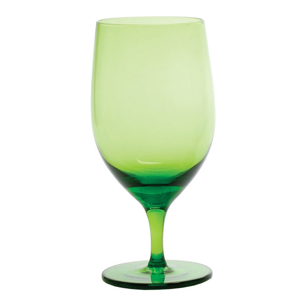 D&V Glass Gala Collection Goblet/Beverage Glass 15 Ounce, Olive