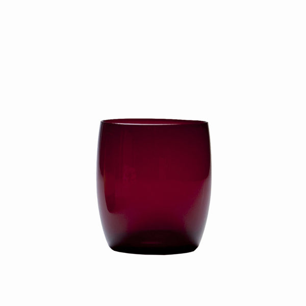 D&V Glass Gala Collection Short Beverage/Cocktail Glass 15 Ounce, Ruby Red