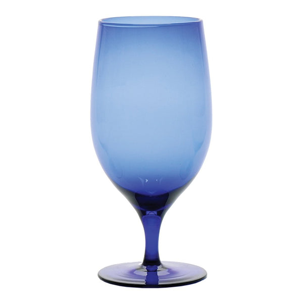 D&V Glass Gala Collection Goblet/Beverage Glass 15 Ounce, Cobalt, Set of 12