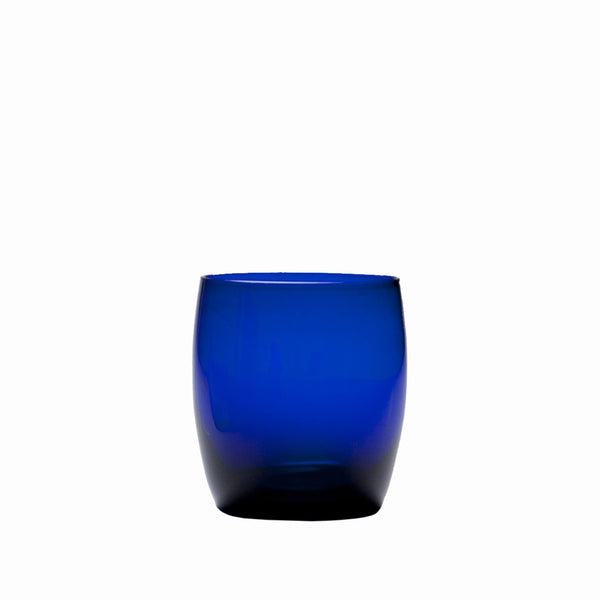 D&V Glass Gala Collection Short Beverage/Cocktail Glass 15 Ounce, Cobalt