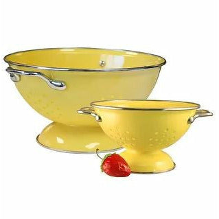 Calypso Basics Colander Set, 1qt and 3qt, Lemon