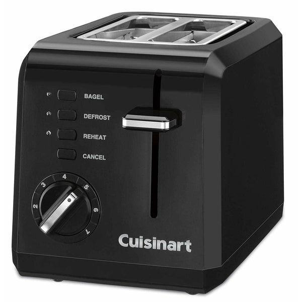 Cuisinart CPT-122BKFR Electric Toaster, Black (Certified Refurbished)