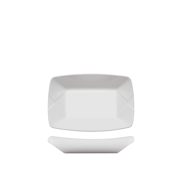 Fortessa Fortaluxe Food Truck Chic Small Serving Boat Plate, 5.5 x 3.75-Inch