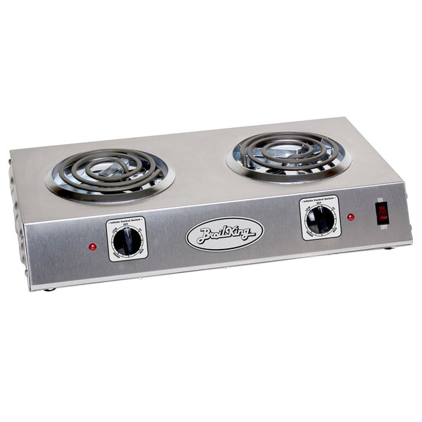 Broil King CDR-1TB Professional Double Hot Plate, 21-1/4-Inch by 4-1/8-Inch by 12-1/4-Inch, Grey - Stainless