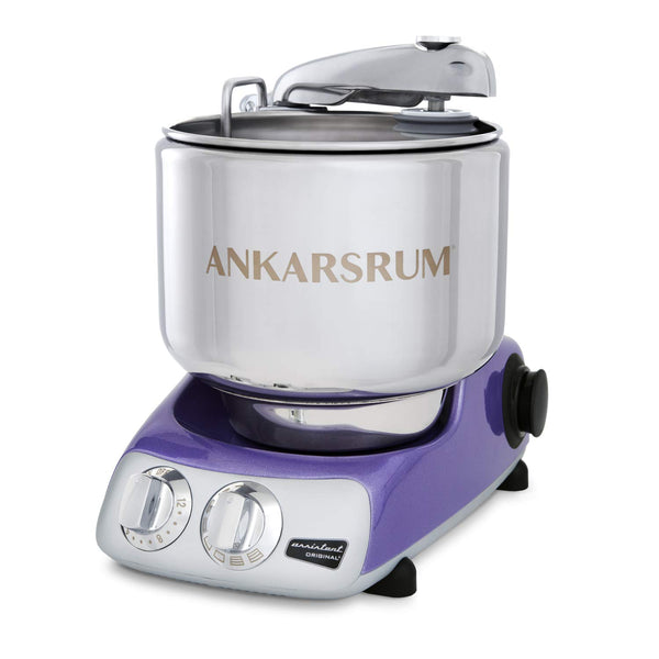 Ankarsrum Original 6230 Shiny Lilac and Stainless Steel 7 Liter Stand Mixer