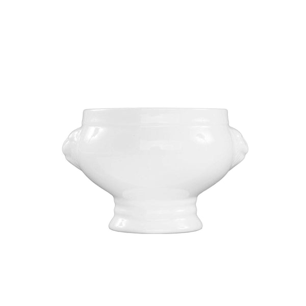 Fortessa Fortaluxe Vitrified China Dinnerware, Lion's Head Tureen/Bowl, 14.5-Ounce