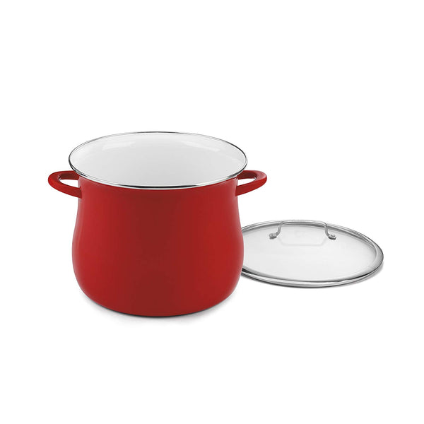 Cuisinart EOSB166-30R 16 Quart Stockpot With Cover, Red
