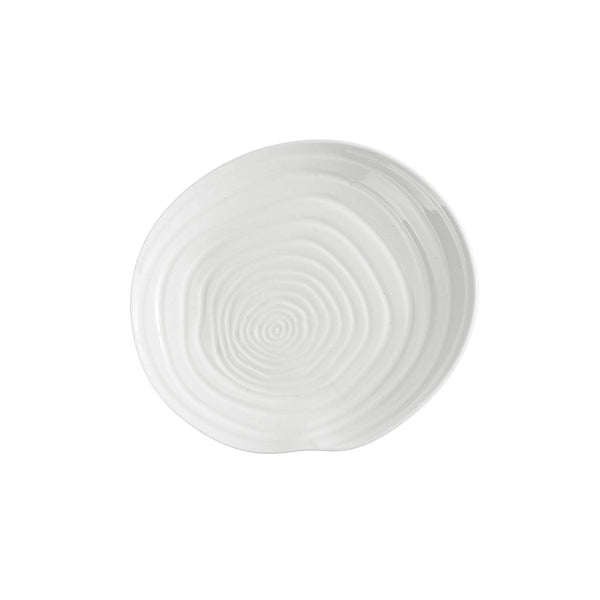 Fortessa Fortaluxe Dinnerware Contexture Water Accent Plate, 6.5-Inch, Set of 4