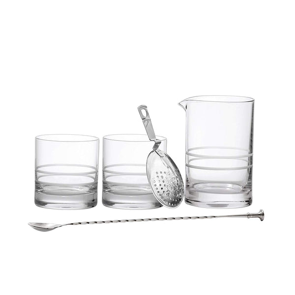 Crafthouse by Fortessa Professional Barware/Bar Tools by Charles Joly, Mixing Gift Set, Silver
