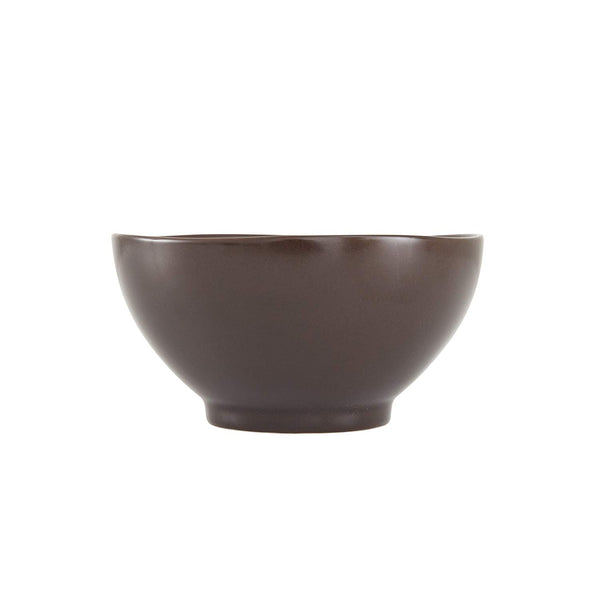 Fortessa Vitraluxe Dinnerware Heirloom Matte Finish Rice Bowl 5.75-Inch, Charcoal, Set of 4