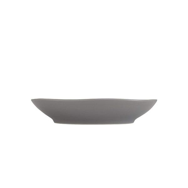 Fortessa Vitraluxe Dinnerware Heirloom Matte Finish Coupe Pasta Bowl 9-Inch, Smoke, Set of 4