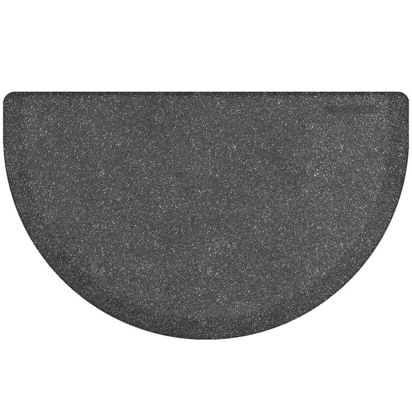 WellnessMats Studio Semi-Circle Anti-Fatigue Floor Mat - Granite Steel