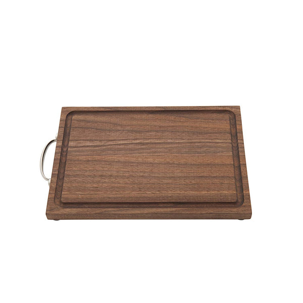 "Crafthouse by Fortessa Professional Barware/Bar Tools by Charles Joly, 11"" x 7.25"" Black Walnut Wood Bar Board/Cutting Board"