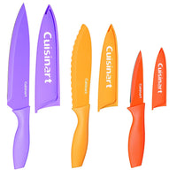 Cuisinart C55CNS-6PCS Advantage Color Collection 6-Piece Non-Stick Cutlery Set, Multicolor