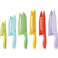 Cuisinart C55-12PCER1 Advantage Color Collection 12-Piece Knife Set with Blade Guards, Multicolored