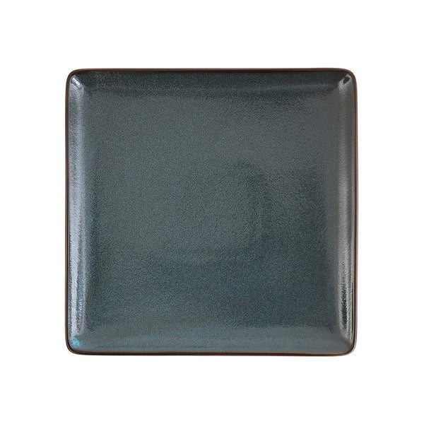 "D&V Stōn Porcelain Dinnerware Square Dinner Plate Set, 9"", Twilight (23cm)"