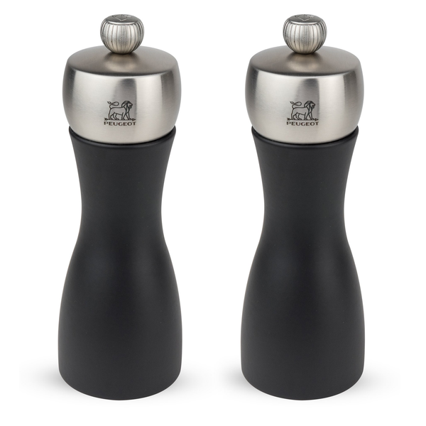 Peugeot Fidji 6 inch Black Matte Salt/Pepper Mill Set